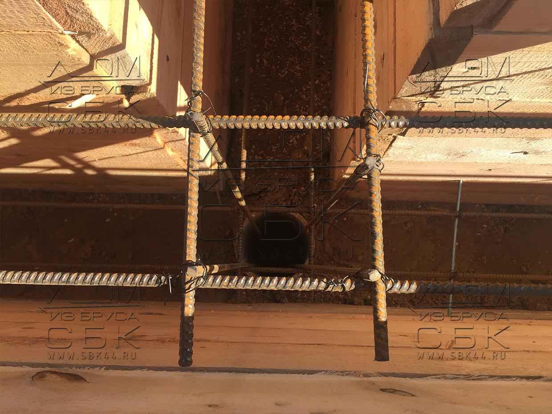 Опалубка под свайно -остверковый фундамент для дома из бруса 6 на 4