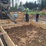 Свайно-ростверковый фундамент под дом из профилированного бруса – костромские опытные бригады