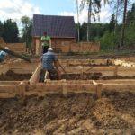 Свайно-ростверковый фундамент под дом из профилированного бруса – костромские бригады
