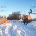 Разгрузка на участок домокомплекта из профилированного бруса 6 на 9 в МО, Домодедовский район