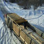 Доставка и подготовка к разгрузке манипулятором профилированного бруса под дом в МО Домодедовский район