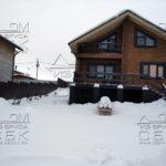 Строительство бани из ОЦБ рядом с домом из клееного бруса