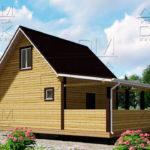Проект брусового дома с террасой 6 х 6 (9) «Дугино» - 2