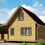 Проект брусового дома с террасой 6 х 6 (9) «Дугино» - 4