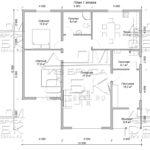Проект одноэтажного дома из бруса 12 х 12 м «Мирный» - план