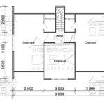 Дом из бруса 7 х 9 м «Град» - план 2-этаж