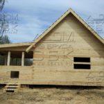 Дом из профилированного бруса 6 х 9 с просторной террасой под усадку