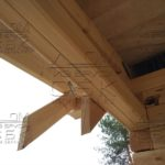Дом из профилированного бруса 6 х 9 с террасой - присоединение террасы