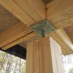 Дом из профилированного бруса 6 х 9 с террасой - компенсатор усадки