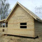 Дом из профилированного бруса 6 х 9 с террасой - двойная обвязка 150 х 200