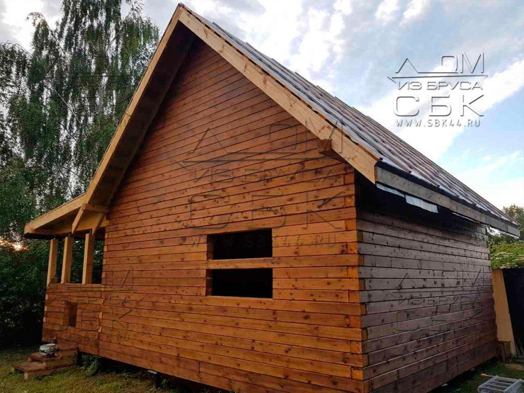 Дом из профилированного бруса 6 х 9 с террасой 3 х 6 м