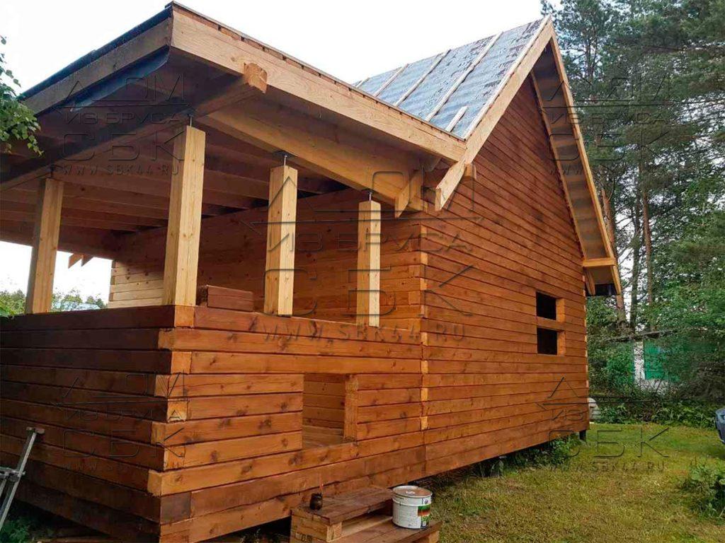 Дом из профилированного бруса 6 х 9 с террасой