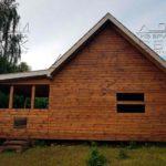 Дом 6 х 6 из профилированного бруса с террасой