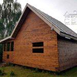 Дом из профилированного бруса 6 х 9 с террасой на свайно-винтовом фундаменте