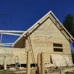 Дом из профилированного бруса 6 х 9 с просторной террасой - привязка террасы