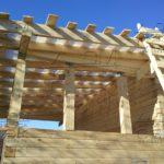 Дом из профилированного бруса 6 х 9 с просторной террасой - обрешетка террсасы под стеклоизол