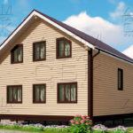 Проект дома из бруса 9 х 8 м в полтора этажа «Владимир» -2