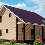 Проект дома из бруса 9 х 8 м в полтора этажа «Владимир» -4