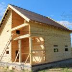 Проект полутораэтажного дома из бруса 8,5 х 8,5 «Эко-Градный» - фото построенного дома