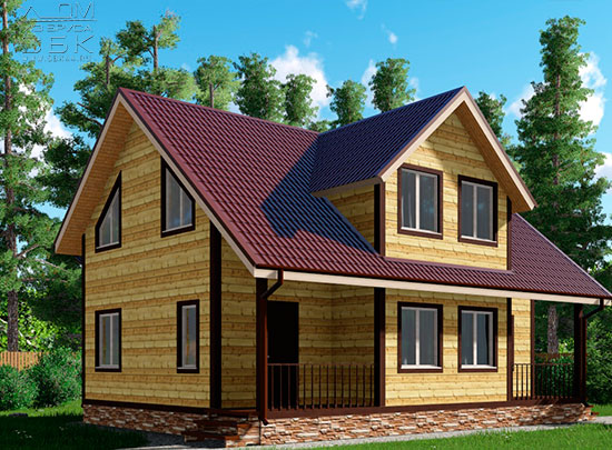 Проект дома из бруса 8 х 12,5 «Игнатово»
