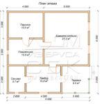 План проекта дома из бруса 9 х 9 «Костино»