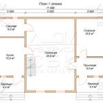 План проекта дома 7,7 х 11 Алешино