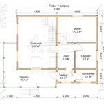 План проекта первого этажа дома 8 х 10,5 Глухово