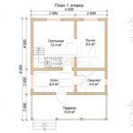 План проекта второго этажа дома 6x8 Абрамцево