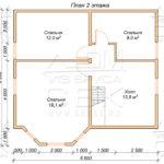 План проекта второго этажа дома 8,5 х 10 Жуково