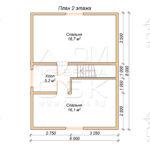 План проекта дома из бруса 6 х 10 «Акишево»