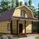 Проект дома 6x8 Абрамцево (1)