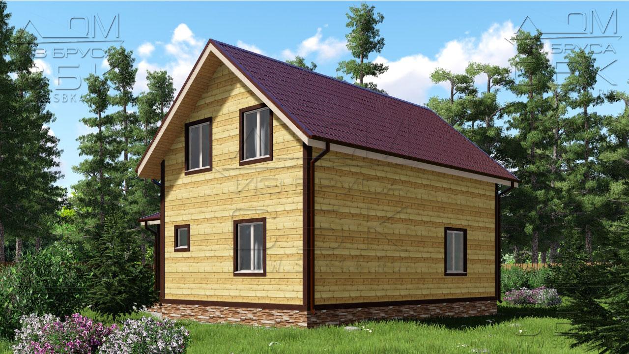 Проект дома 9 х 9 Дубровки