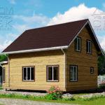Проект дома из бруса 10 х 7 с эркером «Чернопенье» - 3