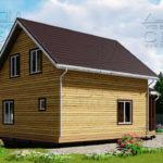 Проект дома из бруса 10 х 7 с эркером «Чернопенье» - 4