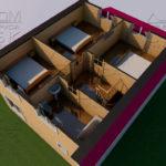 Проект дома из бруса 10 х 7 с эркером «Чернопенье» - Планировка 2 эт