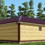 Проект дома из бруса 9 х 9 «Костино»