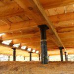 Дом из профилированного бруса 195х145 с эркером Чернопенье - свайновинтовой фундамент - гидроизоляция
