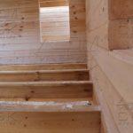 Сечение бруса - Дом из профилированного бруса 195х145 с эркером Чернопенье
