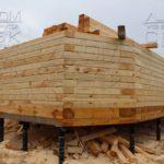 Строительство полным ходом - Дом из профилированного бруса 195х145 с эркером Чернопенье