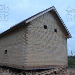 Фасад 4 - Дом из профилированного бруса 195х145 с эркером Чернопенье