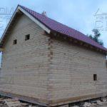 Фасад 3 - Дом из профилированного бруса 195х145 с эркером Чернопенье