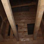 Межэтажные балки - Дом из профилированного бруса 195х145 с эркером Чернопенье