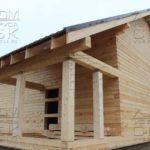 Дом из профилированного бруса 8 х 8,5 крыльцо