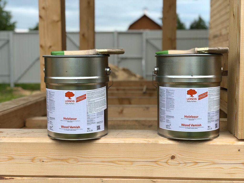 Как правильно подобрать краску для деревянного дома из бруса -мини