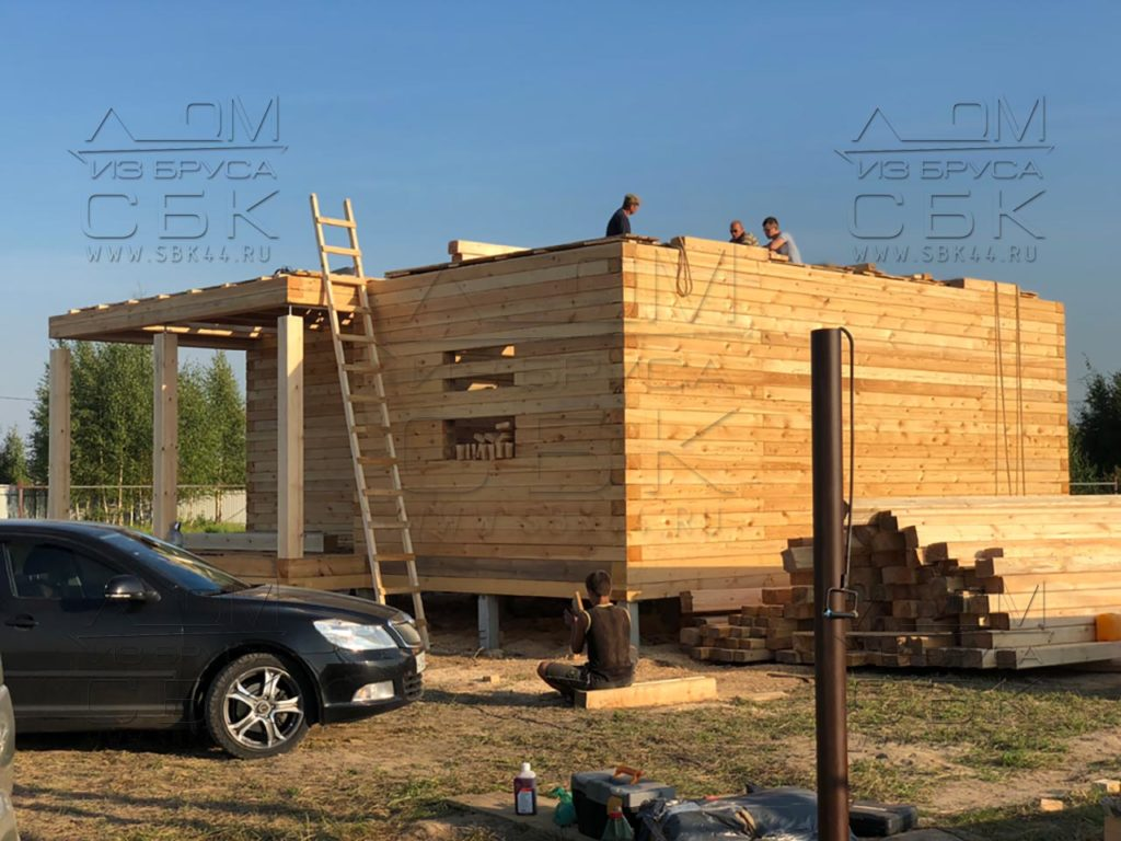 Строим дом 9 х 9 из профилированного бруса в городе Тутаев (1)