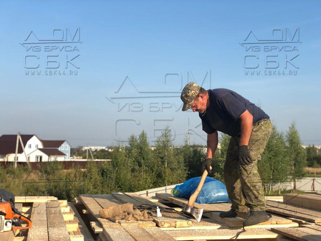 Строим дом 9 х 9 из профилированного бруса в городе Тутаев (3)