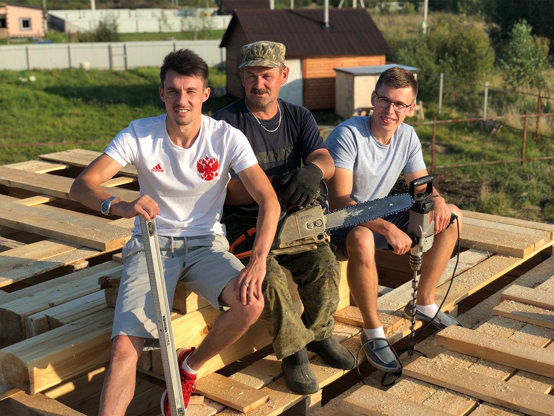 Строим дом 9 х 9 из профилированного бруса в городе Тутаев -мини