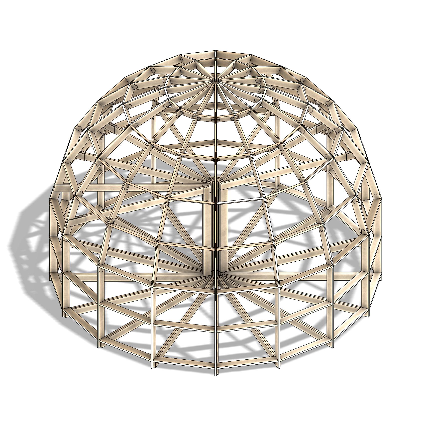 2 этажа купольный каркас z8