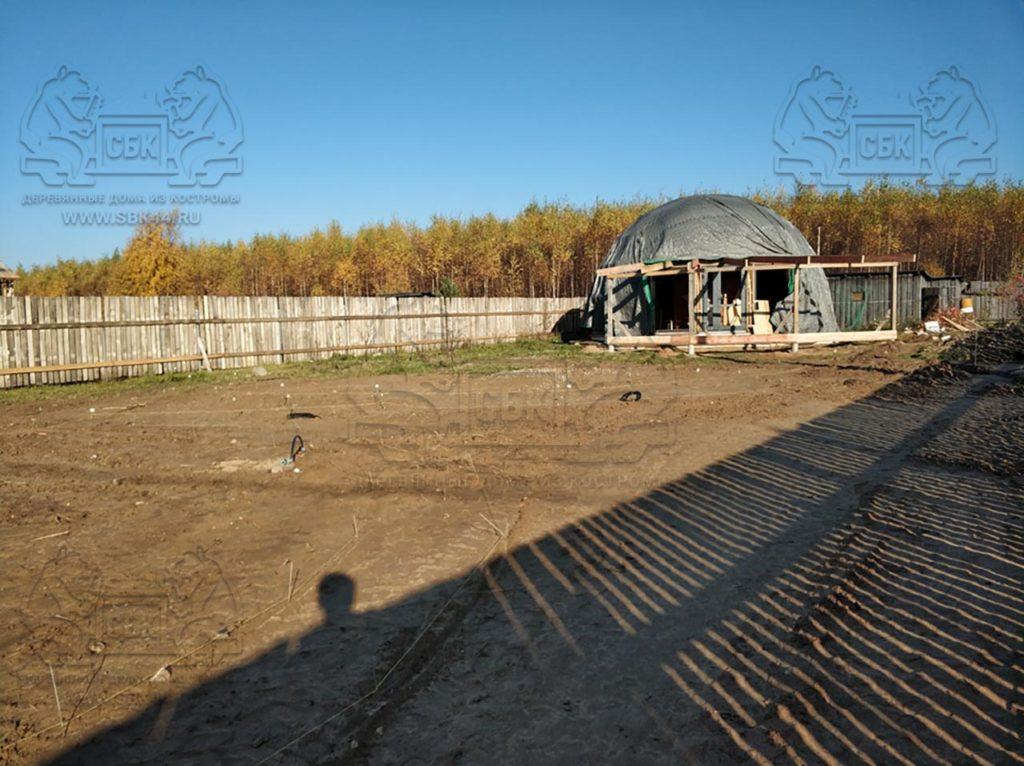 Благоустройство участка у купольного дома Добросфера z - 8 в Костроме (фото 2)