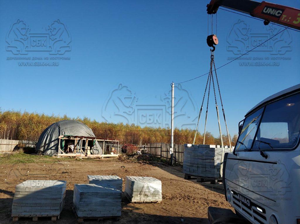 Благоустройство участка у купольного дома Добросфера z - 8 в Костроме (фото 3)